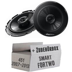 Smart ForTwo 451 Front - Pioneer TS-G1720F - 16cm 2-Wege Koaxe Lautsprecher - Einbauset