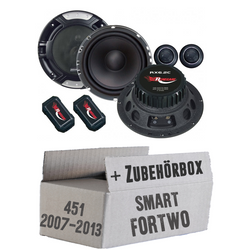 Smart ForTwo 451 Front - Renegade RX 6.2c - 16cm Kompo-System - Einbauset