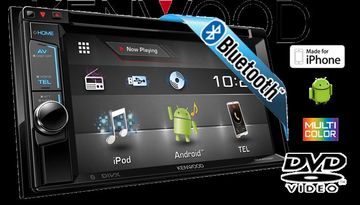 Kenwood Ddx4016bt 2din Bluetooth Dvd Usb Cd Mp3