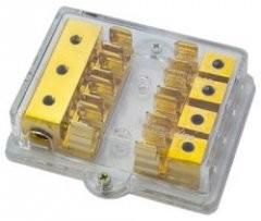 Sinus Live 4fach Sicherungsverteiler für AGU/SG Glasrohrsicherungen