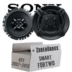 Sony XS-FB1730 - 16cm 3-Wege Koax Lautsprecher - Einbauset für Smart ForTwo 451 Front - JUST SOUND best choice for caraudio