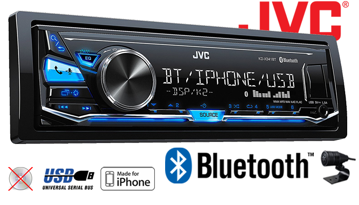 jvc kd x341bt bluetooth mp3 usb android iphone autoradio radio pkw kfz 12v ebay. Black Bedroom Furniture Sets. Home Design Ideas