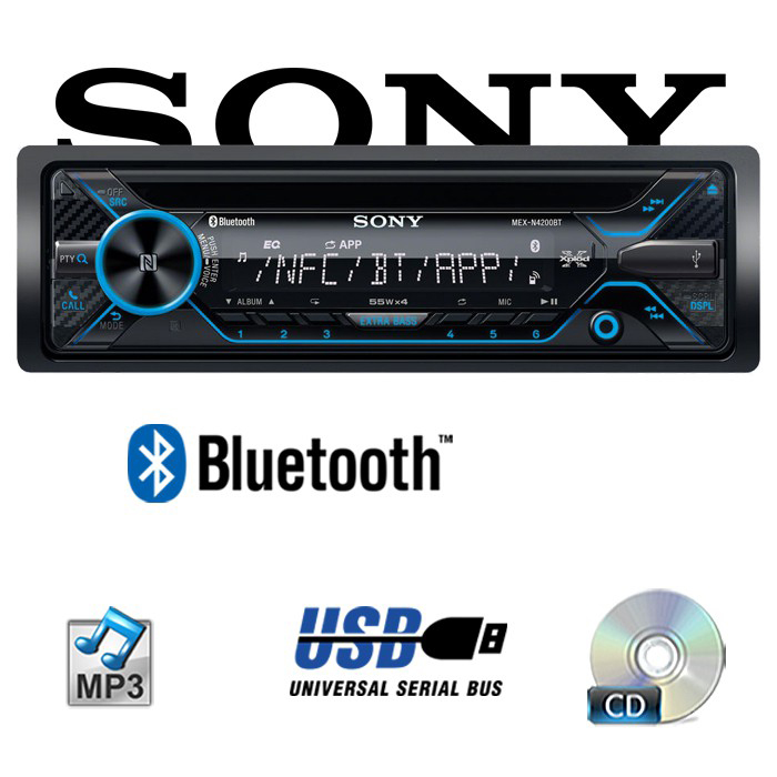 sony mex n4200bt bluetooth cd mp3 usb autoradio. Black Bedroom Furniture Sets. Home Design Ideas