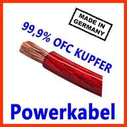 20mm2 Stromkabel - Powerkabel made in Germany - CarHifi OFC Kupfer