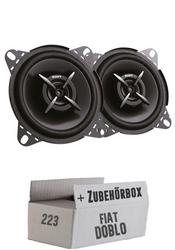 Sony XS-FB1020E - 10cm | 2-Wege Koax Lautsprecher - Einbauset für Fiat Doblo - JUST SOUND best choice for caraudio