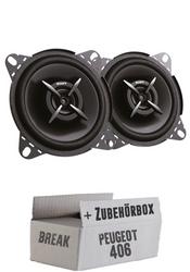 Sony XS-FB1020E - 10cm | 2-Wege Koax Lautsprecher - Einbauset für Peugeot 406 Break - JUST SOUND best choice for caraudio