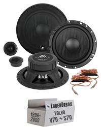 Lautsprecher Boxen ESX HZ6.2C HORIZON - 16cm  System Auto Einbauzubehör - Einbauset für Volvo V / S 70 Front - JUST SOUND best choice for caraudio