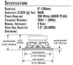 JBL Stage 810 - 20cm Subwoofer