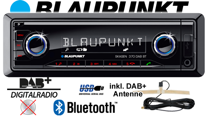 blaupunkt skagen 370 dab bt bluetooth dab sd usb. Black Bedroom Furniture Sets. Home Design Ideas