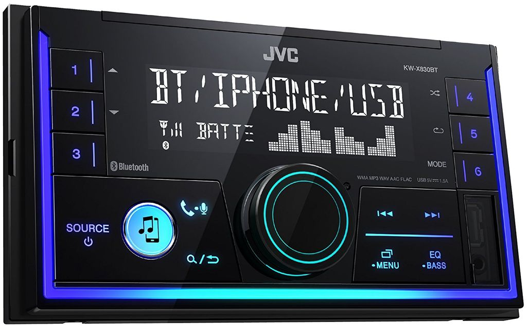 jvc kw x830bt bluetooth mp3 usb autoradio. Black Bedroom Furniture Sets. Home Design Ideas