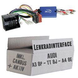 Lenkradfernbedienung Lenkradinterface Audi A3 / A4 / TT Quadlock >Kenwood,JVC,Sony,Pioneer,Blaupunkt,Clarion,Alpine