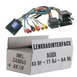 Lenkradfernbedienung Lenkradinterface Audi A3 / A4 / TT  ISO > Kenwood,JVC,Sony,Pioneer,Blaupunkt,Clarion,Alpine