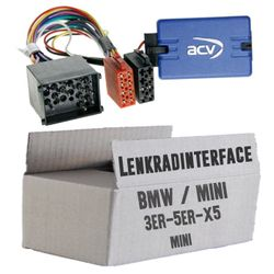 Lenkradfernbedienung Lenkradinterface BMW 3 / 5 / X5 /  Mini  > Kenwood,JVC,Sony,Pioneer,Blaupunkt,Clarion,Alpine
