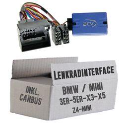 Lenkradfernbedienung Lenkradinterface BMW 3 / 5 / X5 / X3 / Z4 / Mini > Kenwood,JVC,Sony,Pioneer,Blaupunkt,Clarion,Alpine