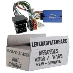 Lenkradfernbedienung Lenkradinterface inkl. CanBus Mercedes > Kenwood,JVC,Sony,Pioneer,Blaupunkt,Clarion,Alpine