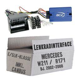 Lenkradfernbedienung Lenkradinterface inkl. CanBus Mercedes E-Klasse / SLK > Kenwood,JVC,Sony,Pioneer,Blaupunkt,Clarion,Alpine
