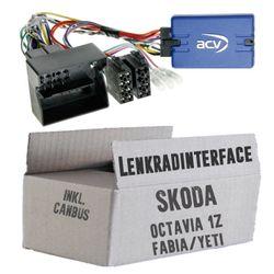 Lenkradfernbedienung Lenkradinterface Skoda verschiedene Modelle > Kenwood,JVC,Sony,Pioneer,Blaupunkt,Clarion,Alpine