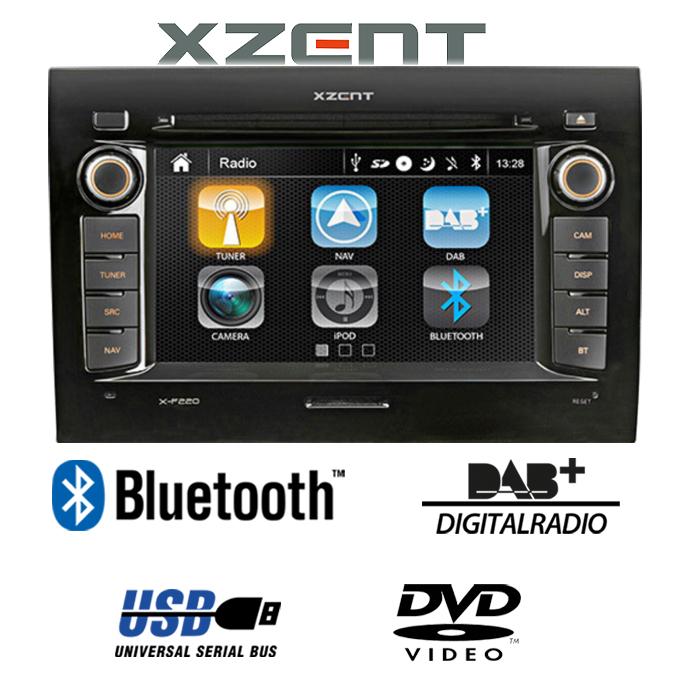 xzent x f220 2 din car radio for fiat ducato with bluetooth dab usb ebay. Black Bedroom Furniture Sets. Home Design Ideas