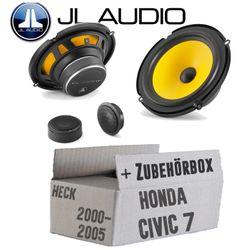 JL Audio C1-650 - 16cm 2-Wege Lautsprecher System - Einbauset für Honda Civic 7 VII Heck - JUST SOUND best choice for caraudio