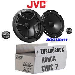 Honda Civic 7 VII Heck - JVC CS-JS600 - 16cm 2-Wege Lautsprechersystem - Einbauset