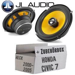 JL Audio C1-650X - 16cm Koax Lautsprecher - Einbauset für Honda Civic 7 VII Heck - JUST SOUND best choice for caraudio