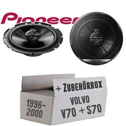 Volvo V / S 70 Heck - Lautsprecher Boxen Pioneer TS-G1730F - 16cm 3-Wege Koax Paar PKW 300WATT Koaxiallautsprecher Auto Einbausatz - Einbauset