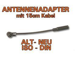 Antennenadapter Alt auf Neu DIN-ISO