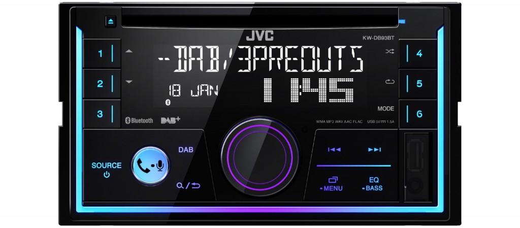 opel astra h charcoal - autoradio radio jvc kw-db93bt - 2-din dab+