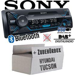 Autoradio Radio Sony DSX-A510BD - DAB+ | Bluetooth | MP3/USB - Einbauzubehör - Einbauset für Hyundai Tucson - JUST SOUND best choice for caraudio