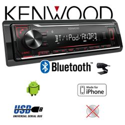 B-Ware K Kenwood KMM-BT204 - Bluetooth | MP3 | USB | iPhone - Android Autoradio