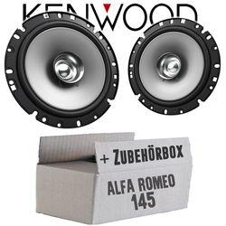 Alfa Romeo 145 - Lautsprecher Boxen Kenwood KFC-S1756 - 16cm Koax Auto Einbauzubehör - Einbauset