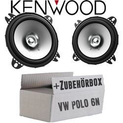 VW Polo 6N - Lautsprecher Boxen Kenwood KFC-S1056 - 10cm Koax Auto Einbauzubehör - Einbauset