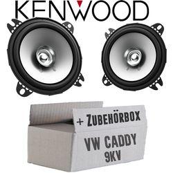 VW Caddy 9KV Front - Lautsprecher Boxen Kenwood KFC-S1056 - 10cm Koax Auto Einbauzubehör - Einbauset