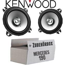 Mercedes 190   W201 Front - Lautsprecher Boxen Kenwood KFC-S1056 - 10cm Koax Auto Einbauzubehör - Einbauset