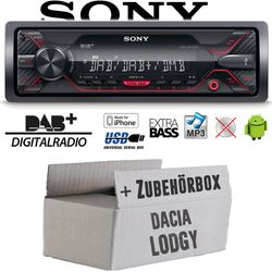 Autoradio Radio Sony DSX-A310DAB - DAB+ | MP3/USB - Einbauzubehör - Einbauset für Dacia Lodgy 1- JUST SOUND best choice for caraudio