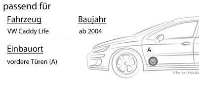 Einbauset VW Caddy 2K Life Front Lautsprecher Boxen JVC CS-J610X 16cm Auto Einbauzubeh/ör 300Watt Koaxe KFZ PKW Paar