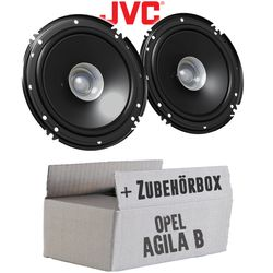 Lautsprecher Boxen JVC CS-J610X - 16cm Auto Einbauzubehör 300Watt Koaxe KFZ PKW Paar  - Einbauset für Opel Agila B - JUST SOUND best choice for caraudio