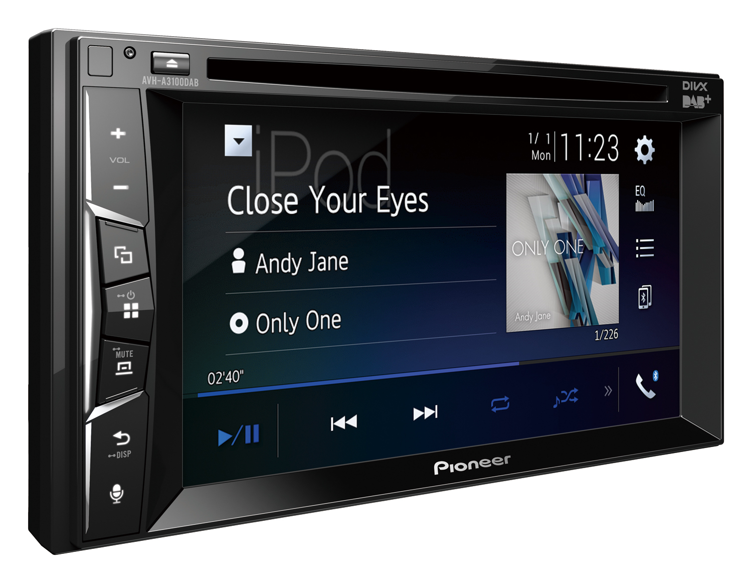 pioneer avh a3100dab 2 din bluetooth dab usb. Black Bedroom Furniture Sets. Home Design Ideas