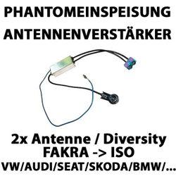 Phantomeinspeisung 2x Fakra auf ISO mit Diversity