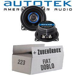 Lautsprecher Boxen Autotek ATX-42 | 2-Wege 10cm Koax Lautsprecher 100mm Auto Einbauzubehör - Einbauset für Fiat Doblo - JUST SOUND best choice for caraudio