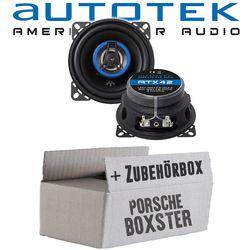 Porsche Boxster (986) - Lautsprecher Boxen Autotek ATX-42 | 2-Wege 10cm Koax Lautsprecher 100mm Auto Einbauzubehör - Einbauset