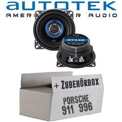 Porsche 911 (996) - Lautsprecher Boxen Autotek ATX-42 | 2-Wege 10cm Koax Lautsprecher 100mm Auto Einbauzubehör - Einbauset