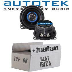 Seat Ibiza 6K Armaturenbrett - Lautsprecher Boxen Autotek ATX-42 | 2-Wege 10cm Koax Lautsprecher 100mm Auto Einbauzubehör - Einbauset