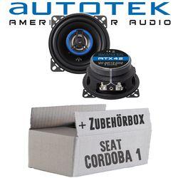 Seat Cordoba 1 - Lautsprecher Boxen Autotek ATX-42 | 2-Wege 10cm Koax Lautsprecher 100mm Auto Einbauzubehör - Einbauset