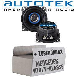 Mercedes V-Klasse Vito W638 Front - Lautsprecher Boxen Autotek ATX-42 | 2-Wege 10cm Koax Lautsprecher 100mm Auto Einbauzubehör - Einbauset