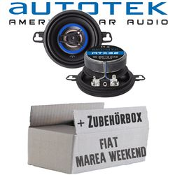 Lautsprecher Boxen Autotek ATX-32 | 2-Wege 8,7cm Koax Lautsprecher 87mm Auto Einbauzubehör - Einbauset für Fiat Marea Weekend - JUST SOUND best choice for caraudio