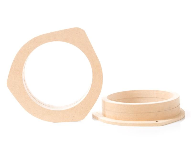 Altavoces anillos MDF audi a3 8p a4 b6 mercedes w211 toyota yaris adaptador de madera