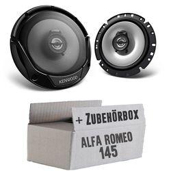 Alfa Romeo 145 - Lautsprecher Boxen Kenwood KFC-E1765 - 16cm 2-Wege Koaxialsystem Auto Einbausatz - Einbauset
