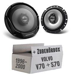 Lautsprecher Boxen Kenwood KFC-E1765 - 16cm 2-Wege Koaxialsystem Auto Einbausatz - Einbauset für Volvo V / S 70 Front - JUST SOUND best choice for caraudio