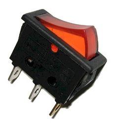 Autoleads Wippschalter rot - eckig - beleuchtet